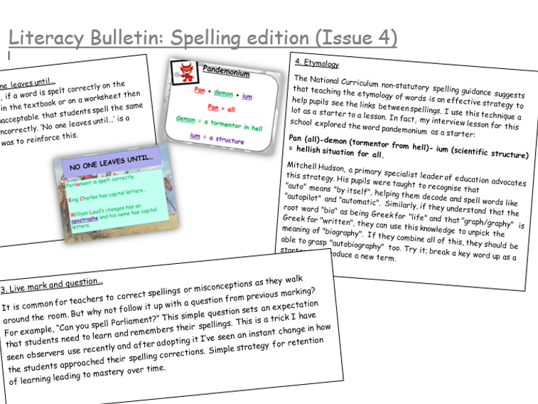 Whole School Literacy Newsletters