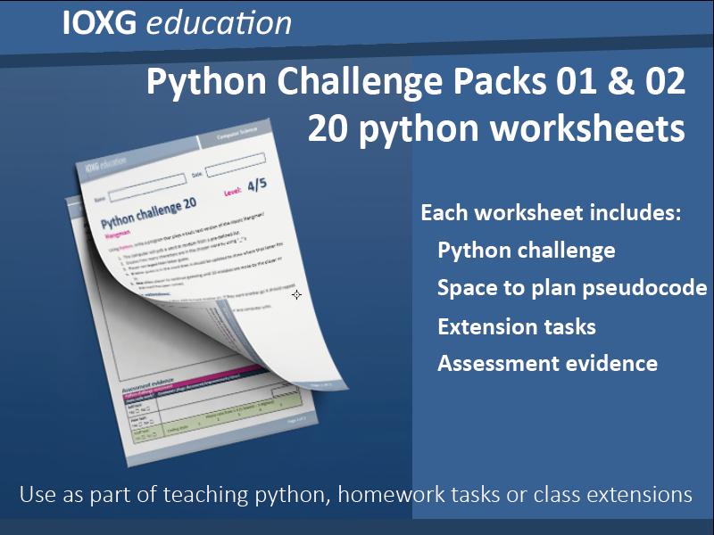 Python Challenge Packs 01 & 02 (Combo)