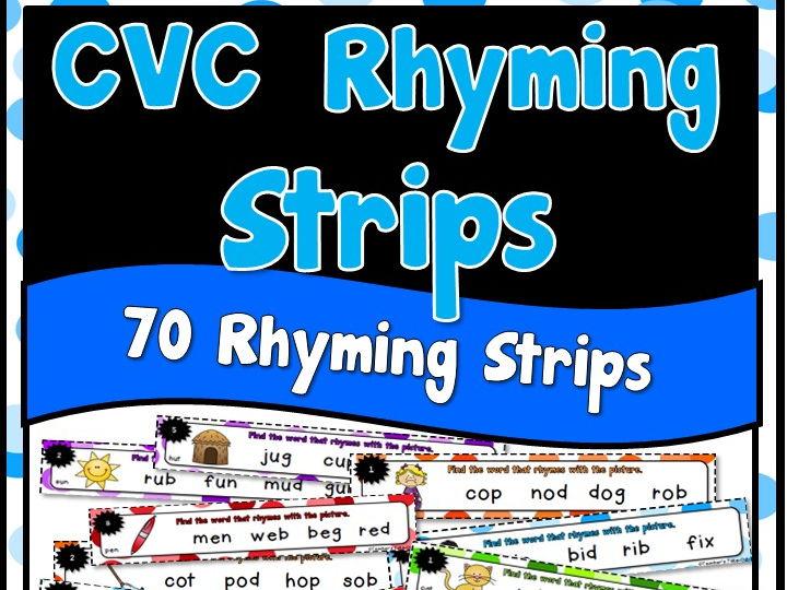 CVC Rhyming Strips