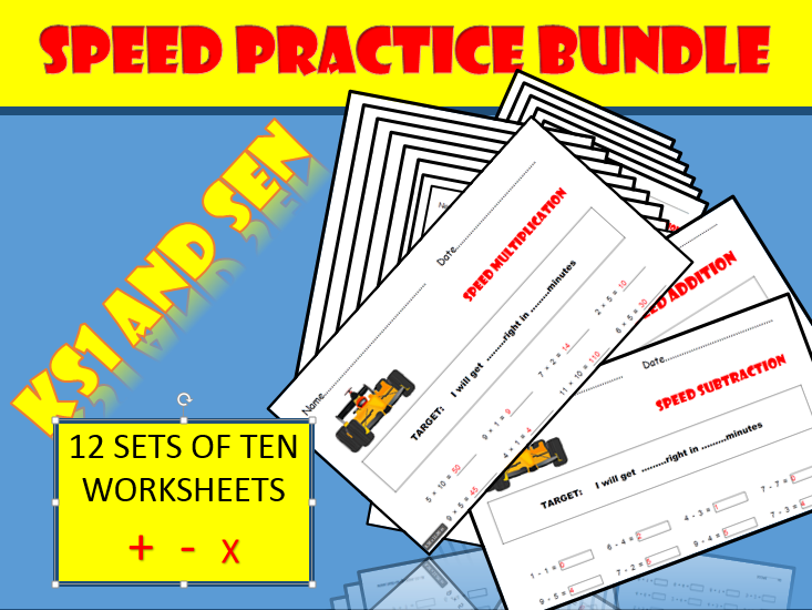 Maths Speed Practice for KS1 and SEN
