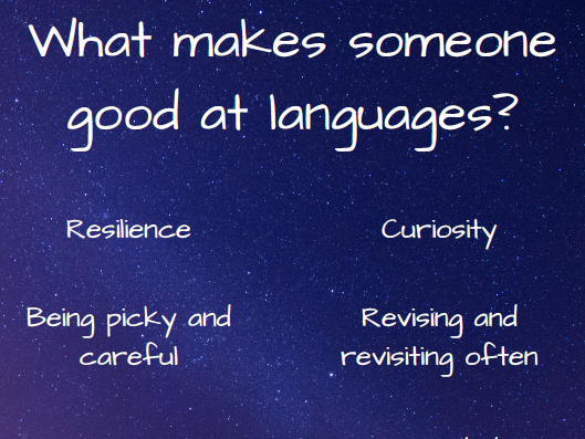 Poster: Traits of Good Language Learners