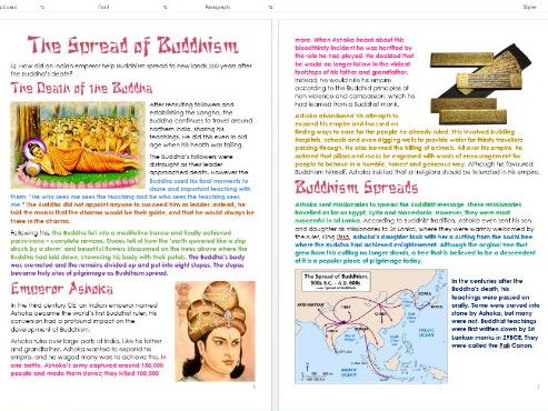 Buddhism: Spread of Buddhism: Differentiated Information and Activity Sheets