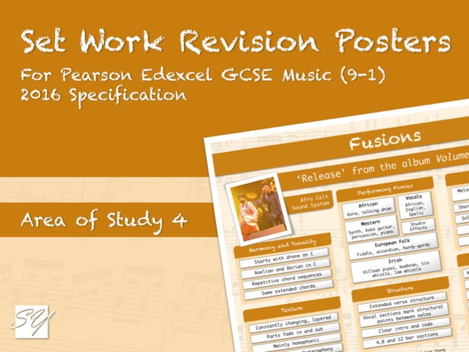 Set Work Revision Posters for Pearson Edexcel GCSE Music (2016 Specification) - Area of Study 4