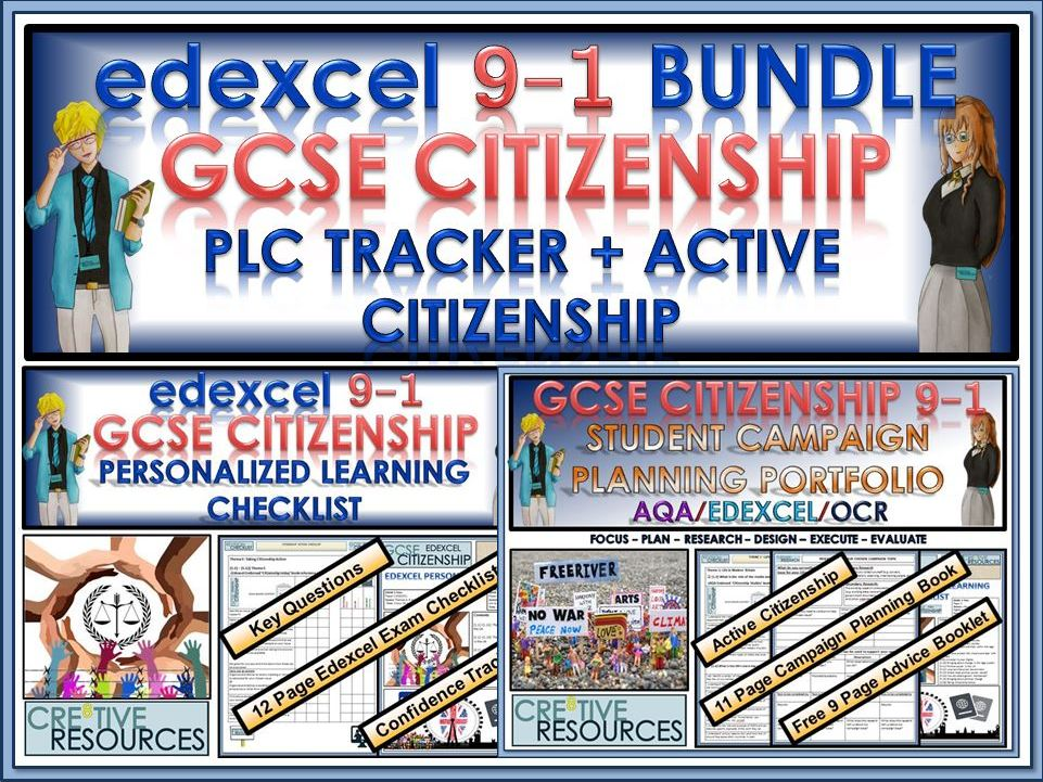 GCSE Citizenship (9-1) EDEXCEL - PLC Tracker + Active Citizenship Bundle