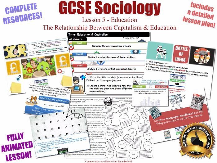 Education & Capitalism - Sociology of Education L5/20 [ WJEC EDUQAS GCSE Sociology ] Gintis Bowles