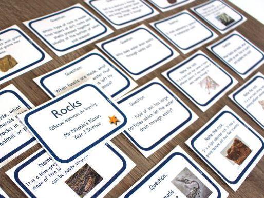Year 3 Quiz Cards - Rocks