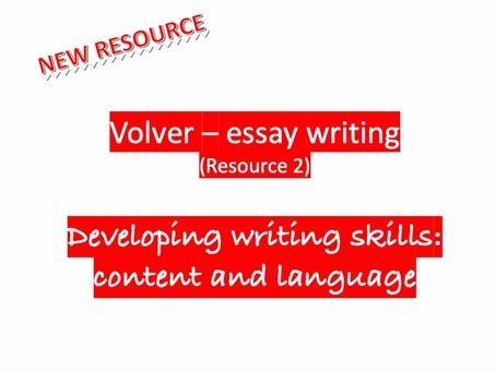 Volver-essay writing for AQA & Edexcel