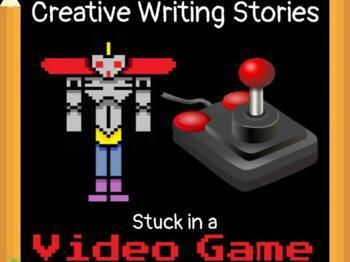 Creative Writing Prompts: Stuck in a Video Game **FREEBIE**