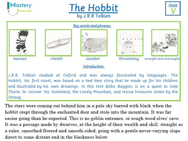 The Hobbit by J.R.R. Tolkien Comprehension KS2