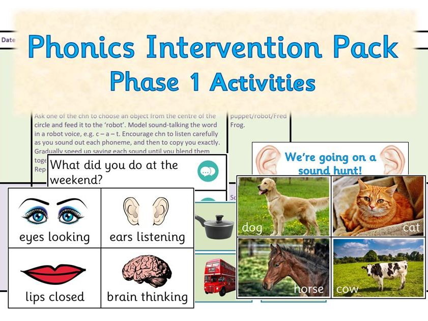 Phonics Intervention Pack - Phase 1 Planning and Resources (EYFS)
