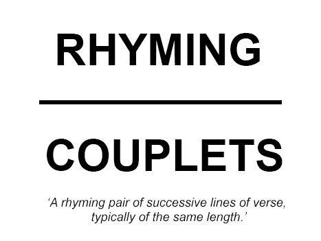 KS3 4 part Lesson: Using a rhyme scheme in our own work. Nonsense Poetry and Rhyming Couplets.