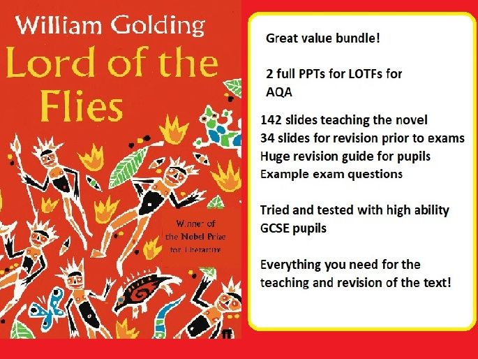 Lord of the Flies BUNDLE - 142 SLIDE high ability full scheme of work, 32 SLIDE revision PPT,  FULL BESPOKE revision guide and example exam questions
