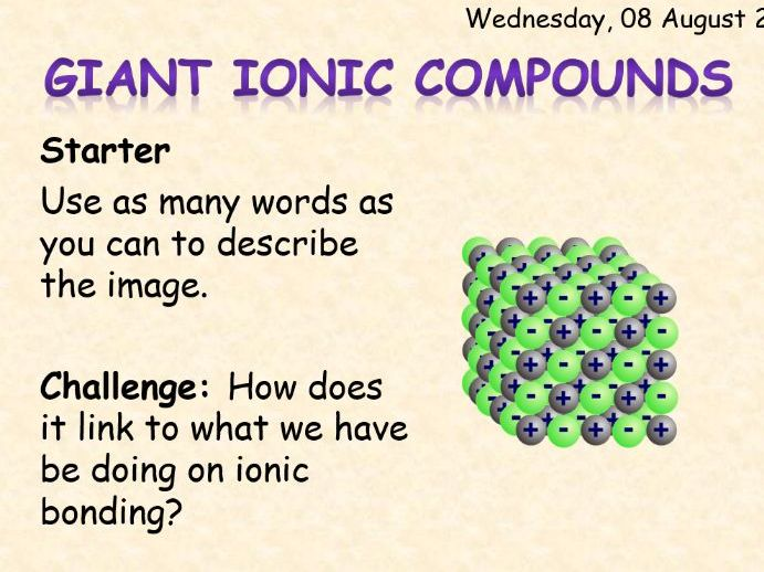 AQA Chemistry Topic 3: Giant Ionic Compounds