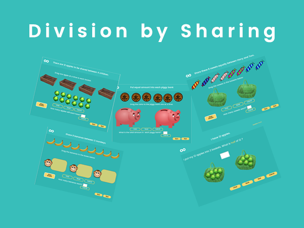 Division by Sharing - Year 1, Key stage 1 by skoolmaths - Teaching ...