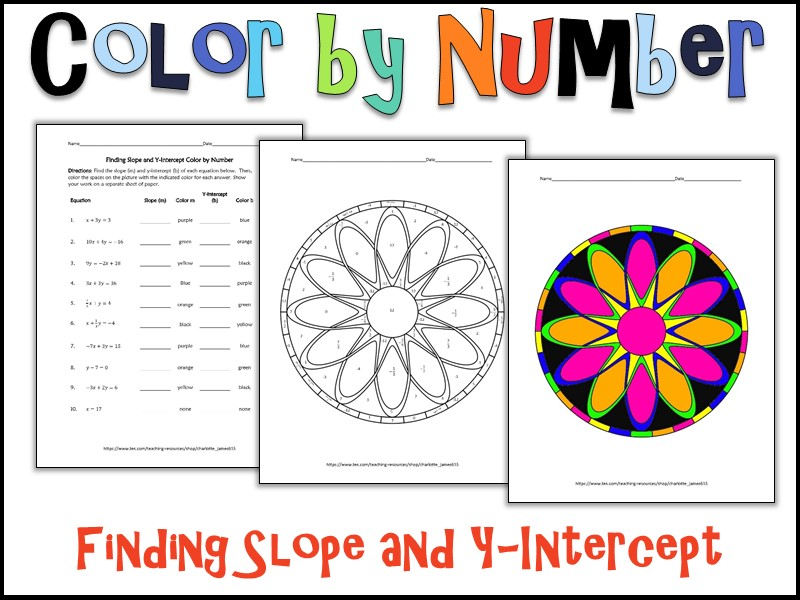 Finding Slope and YIntercept Color by Number by – Finding Slope and Y Intercept Worksheet