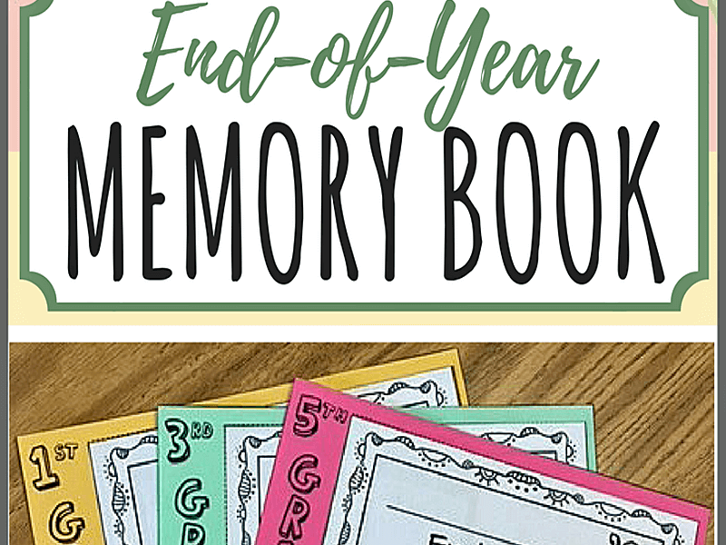 End-of-Year Memory Book for 1st-5th Grade
