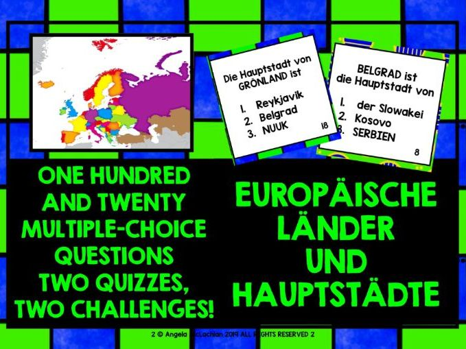 GERMAN QUIZ EUROPE COUNTRIES & CAPITALS
