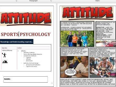 OCR A Level PE - Sports Psychology ILT2 -  Attitude.