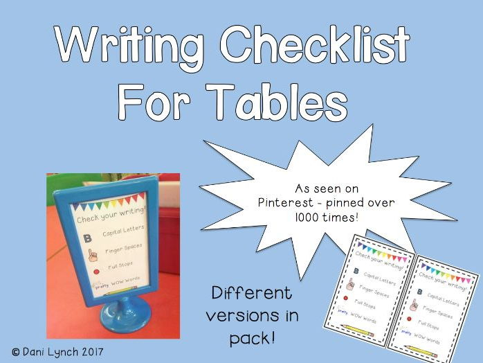 Editable Writing Table Checklists/Ikea Stands