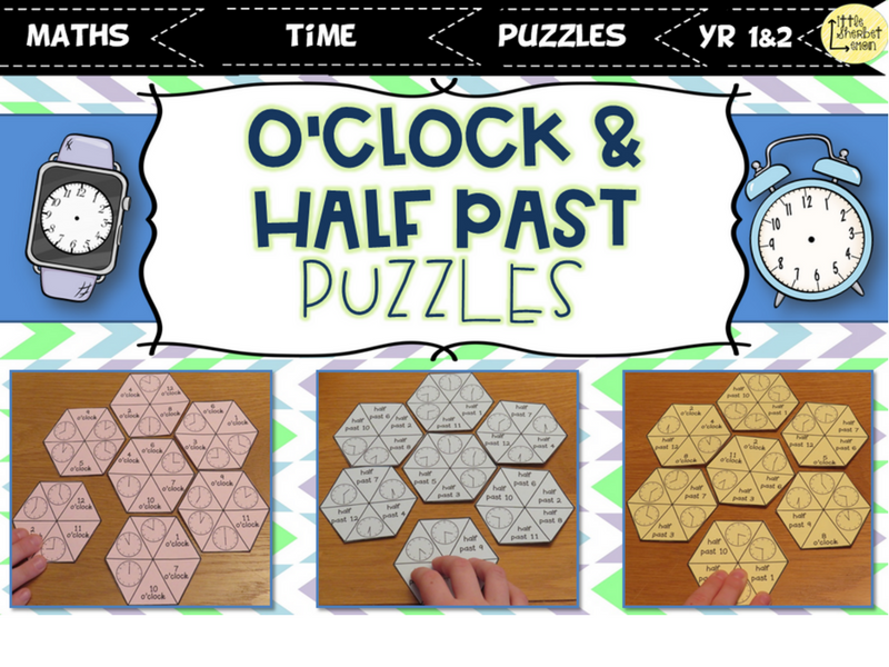 O'Clock and Half Past Puzzles