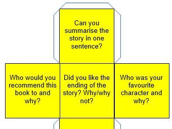 Guided reading question dice