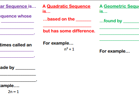 Types of Sequence Gap Fill/Notes