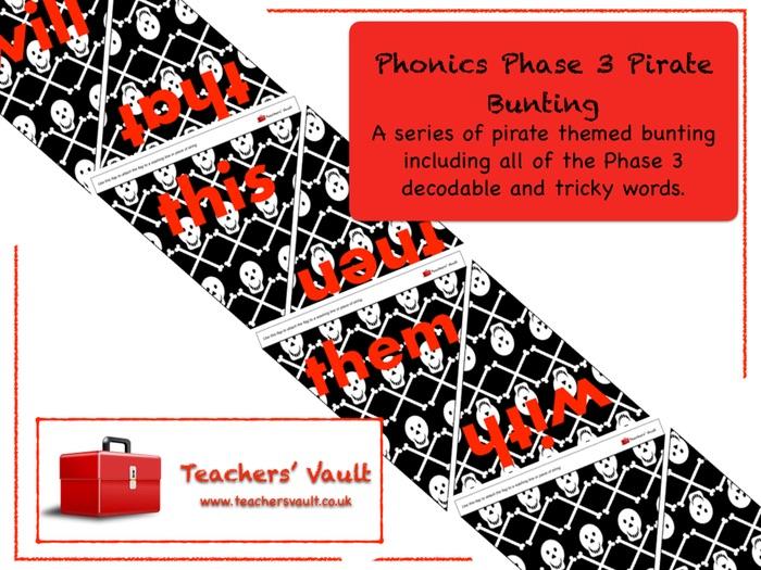Phonics Phase 3 Pirate Bunting