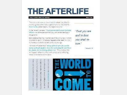 WJEC Eduqas Judaism: Afterlife Exam Booklet