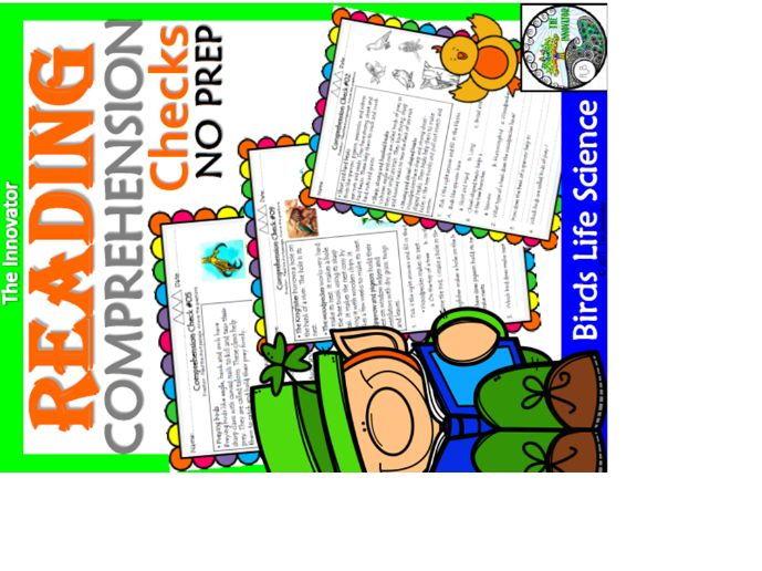 Reading Comprehension - Birds Life Science