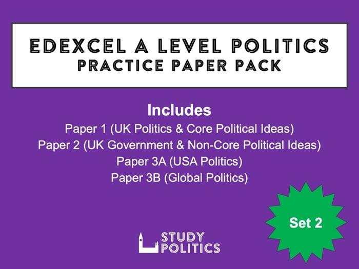Edexcel A-Level Politics Practice Papers: Set 2