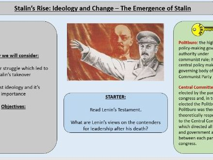 2. AQA Tsarist and Communist Russia Part 2 - Stalin's Rise to Power Ideology and Change