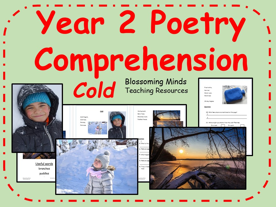 Year 2 poetry comprehension - Cold