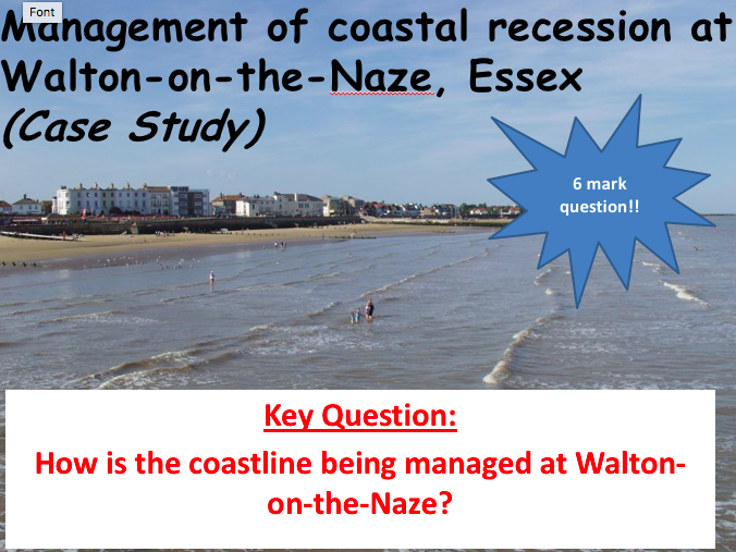 AQA GCSE Geography: Lesson 8 The Coastal Zone - Walton on the Naze Case Study