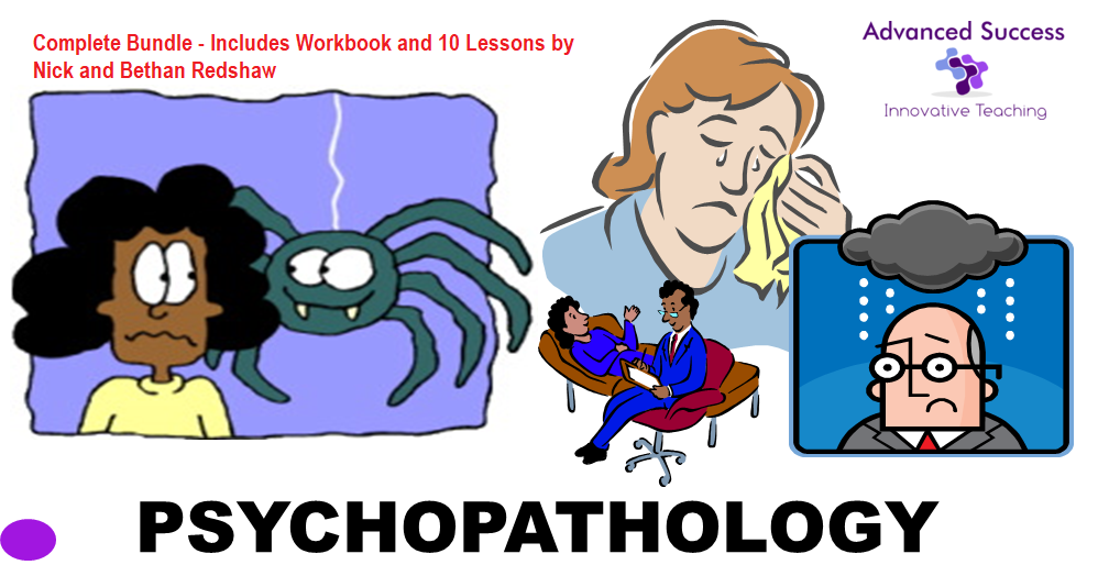 SPECIAL OFFER  (47% Off) - PSYCHOPATHOLOGY Workbook, Lesson Plans and PowerPoint's Bundle