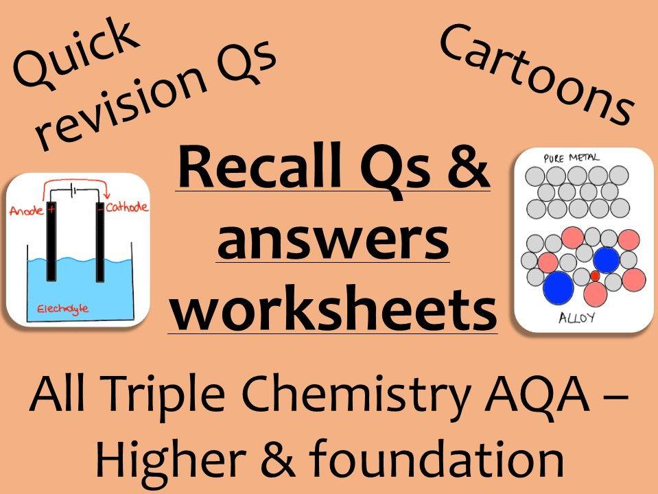 AQA Chemistry GCSE recall Qs - ALL Triple