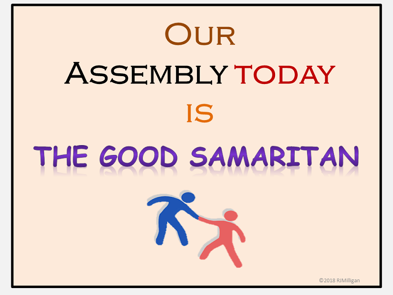 The Good Samaritan Assembly Parable, PowerPoint Presentation, Teacher's Guide, Worksheets KS1