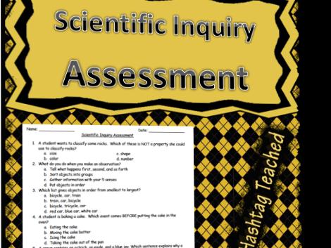 Scientific Inquiry Assessment