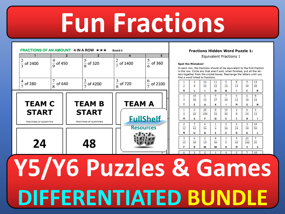 photograph about Printable Fraction Activities titled Fractions Actions KS2