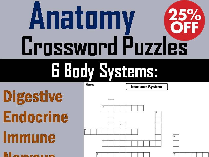 Human Body Systems: Anatomy Crossword Puzzles Bundle by ScienceSpot ...