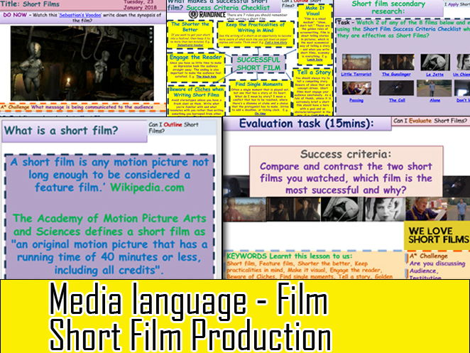Media Language - Short Film Production