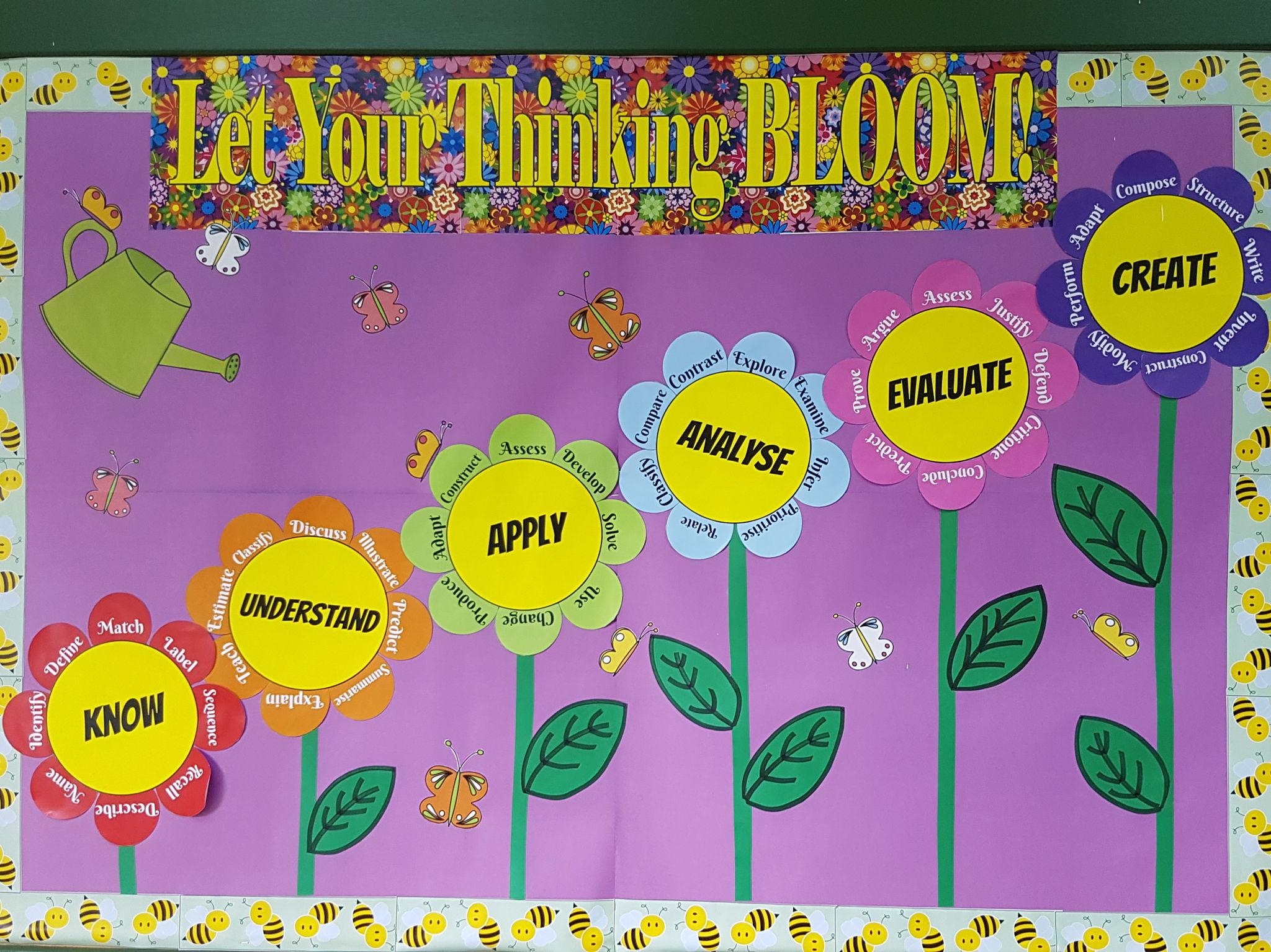 Bloom's Taxonomy display