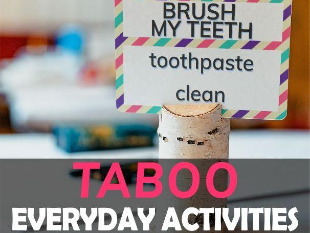 Everyday Activites Taboo Pre-Intermediate