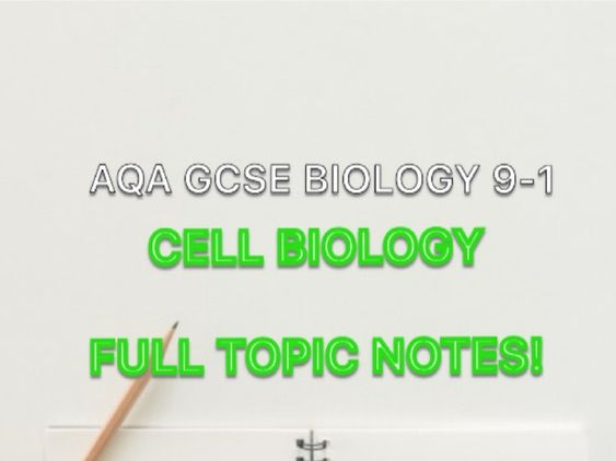 AQA Biology GCSE Cell Biology Topic Notes