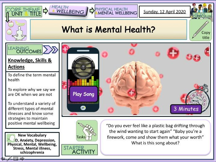 What is Mental Health? PSHE lesson