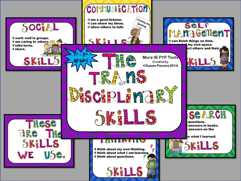 IB PYP Transdisciplinary Skills Posters for Little Kids