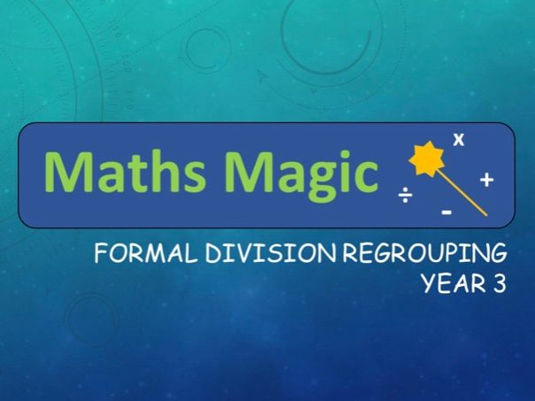 Division with Regrouping Formal Method Lesson Y3