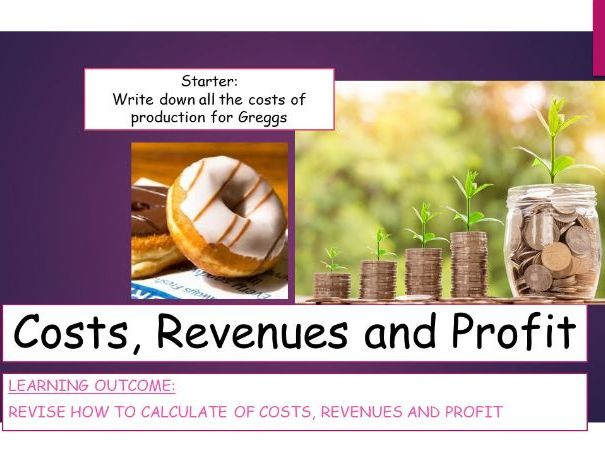 Costs Revenues and Profits KS4