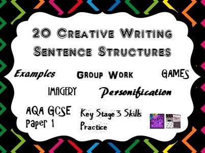 Sentence Structures Games and Activities for Creative Writing