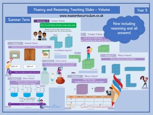 Year 5 – Editable Volume Fluency And Reasoning Teaching Slides White Rose Style