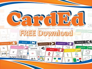 CardEd Set 1 Red Sample Card & Activity Ideas